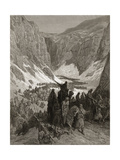 The Christian Army in the Mountains of Judea  Illustration from 'Bibliotheque Des Croisades' by…