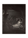 The Death of Nelson (1758-1805) Illustration from 'The Life of Nelson' by Robert Southey…