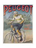 Poster Advertising the Cycles 'Peugeot'