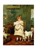 Girl with Dogs  1893