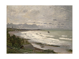 The Beach at Sainte Adresse  1867