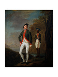 A British Officer of a Madras Sepoy Battalion Attended by a Sepoy Servant  C1769