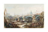 View of the Opening of the New Blackfriars Bridge by Queen Victoria (1819-1901) 6th November 1869