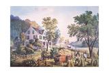 American Farm Scene  1864