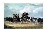 The Brighton Day Mails Passing over Hockward Common  Engraved by Charles Hunt  1838