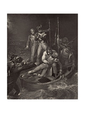 Nelson Wounded at Tenerife in 1787  Illustration from 'The Life of Nelson' by Robert Southey…