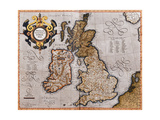 Map of the British Isles  from 'Atlas Sive Cosmographicae Meditationes De Fabrica Mundi Et…