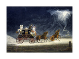 The Mail Coach in a Thunderstorm  Engraved by RG Reeve  1827