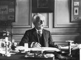 Gabriel Faure (1845-1924) at His Desk