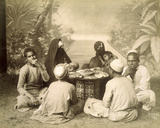 Egyptian Family Eating a Meal  C1880