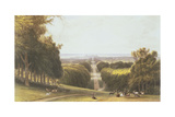 The Long Walk  Windsor Park  from a Compilation of Views of Windsor  Eton and Virginia Water …
