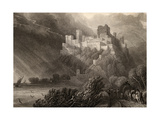 The Ruins of Rheinfels  Engraved by W Radclyffe  Illustration from 'The Pilgrims of the Rhine'…
