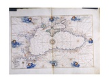 The Black Sea  from the 'Portolan Atlas of the World'  C1540