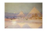 The Pyramids at Dusk