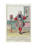 The Wigmaker  Published in Augsburg  C1735