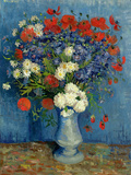 Still Life: Vase with Cornflowers and Poppies, 1887 Reproduction d'art par Vincent Van Gogh