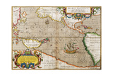 Map of the Pacific Ocean from 'Theatrum Orbis Terrarum' Originally Executed in 1570  1606