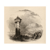The Roman Tower in Thal  Ehrenbreitstein  Engraved by Wallis  Illustration from 'The Pilgrims of…