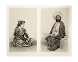 Costumes of Baku  Caspian Coast  Plate 35 from a Book on the Caucasus  Engraved by Jules Didier…