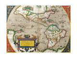 Map of America from 'Theatrum Orbis Terrarum' Originally Executed in 1570  1606