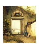 View of Praya Grande  Macao  from a Doorway on Penha Hill  1834