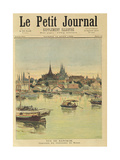 View of Bangkok  from 'Le Petit Journal'  12th August 1893