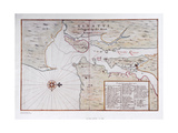 Map of Manhattan  North America  1639