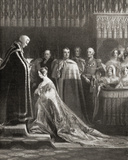Queen Victoria (1819-1901) Receiving the Holy Sacrament after Her Coronation