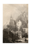 Trarbach  Engraved by EI Roberts  Illustration from 'The Pilgrims of the Rhine' Published 1840
