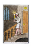 The Sleep-Walker  Published by Hannah Humphrey in 1795 (Hand-Coloured Etching0