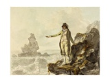 The Guide to the Stackpole Scenery Pointing to Stack Rock  Pembrokeshire  1793