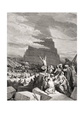 The Confusion of Tongues  Genesis 11:7-9  Illustration from Dore's 'The Holy Bible'  Engraved by…