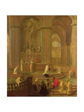 The Mass of Canon Antoine De La Porte Or  the Altar of Notre Dame  1708-10
