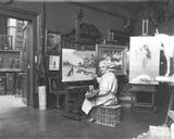 Portrait of Jean Leon Gerome (1824-1904) in His Studio