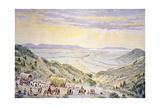 Mormons Descending Little Mountain into Salt Lake City  Utah