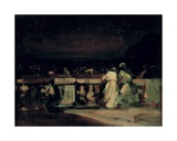 Watching the Fireworks  St Cloud (On the Terrace) C1893