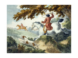 Hunting  Engraved by J Wright  1794