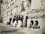 Wailing Wall  Jerusalem  31st December 1889
