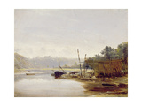Boat Building Near Dinan  Brittany  C1838