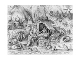 Avarice  from the Seven Deadly Sins  Engraved by Pieter Van Der Heyden (C1530-72) 1558