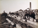 Scene at a Timber Yard in Rangoon  Burma  1890-99