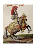 Louis Xiv (1638-1715) as a Roman Emperor  from 'Carrousel De 1662'  C1662 (Detail)