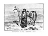 Portrait of Lady Anne Blunt (1837-1917) in Arab Costume with an Arab Horse  Frontispiece to Her…