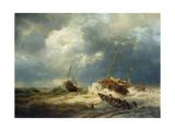 Ships in a Storm on the Dutch Coast  1854