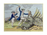 St George and the Dragon  Published by Hannah Humphrey in 1782