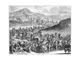 Hajj Caravan from Cairo to Mecca  from 'Description De L'Afrique' by O Dapper  1686