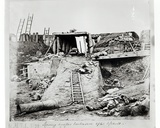 An Embrasure after the Assault at North Taku Fort  During the Second China War  1860