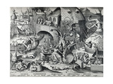 Envy  from the Seven Deadly Sins  Engraved by Peter Van Der Heyden (C1530-72) 1558