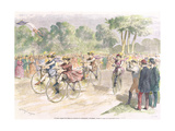 Original Costumes for the Velocipede Race in Bordeaux  1868