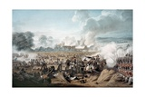 Attack on the British Squares by French Cavalry at the Battle of Waterloo  1815